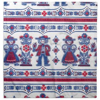 Traditional Swiss Folklore pattern Napkin