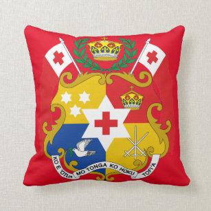 Traditional Tongan Shield Emblem Throw cushion