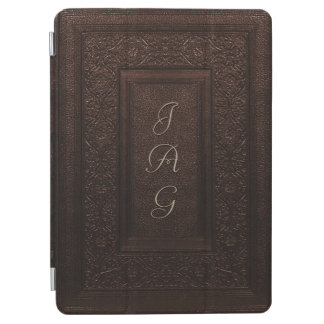 Traditional Tooled Leather Book Cover iPad Air Cover
