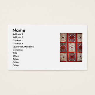 Traditional  tribal weaving textile Business cards