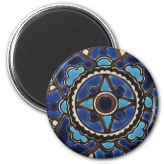 Traditional Turkish  blue and white  tile design Magnet