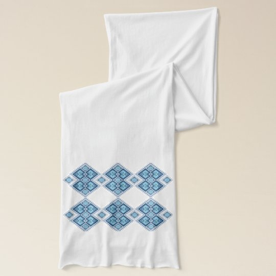 Traditional Ukrainian embroidery pattern Scarf Wraps