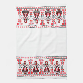 Traditional Ukrainian embroidery ukraine girls Kitchen Towel