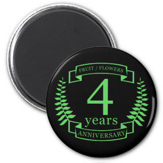 Traditional US wedding anniversary 4 years Magnet