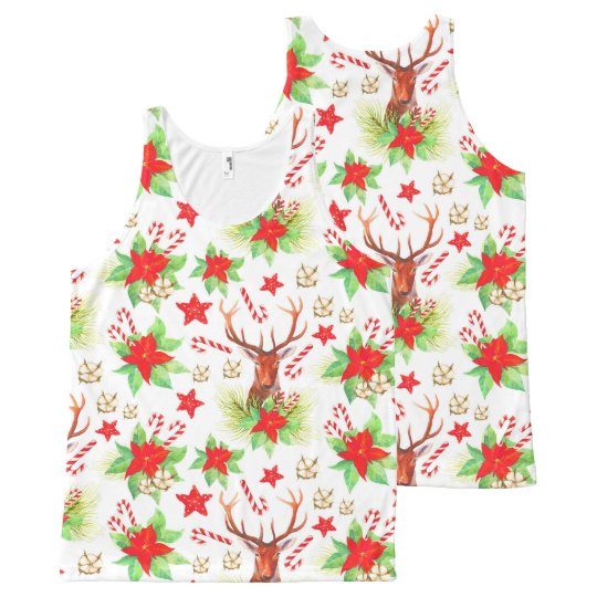 Traditional Vintage Christmas Pattern All-Over-Print Tank Top