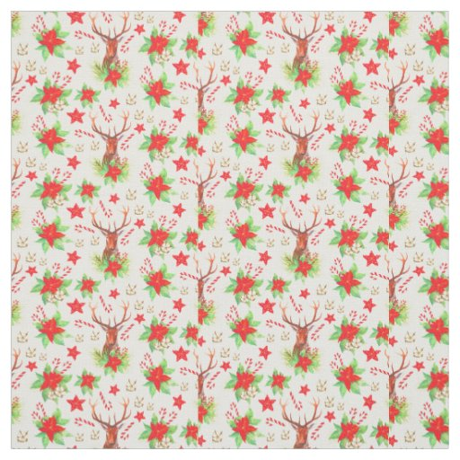Traditional Vintage Christmas Pattern Fabric