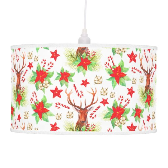 Traditional Vintage Christmas Pattern Pendant Lamp