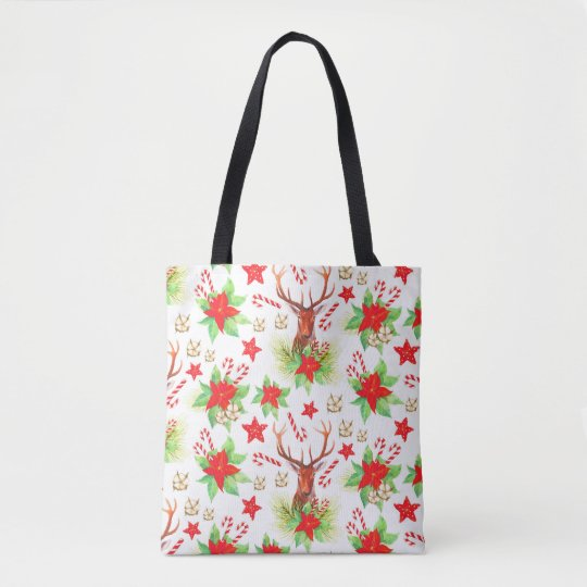 Traditional Vintage Christmas Pattern Tote Bag