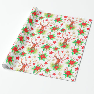 Traditional Vintage Christmas Pattern Wrapping Paper