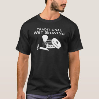 Traditional Wet Shaving, DE Razor - Dark T-Shirt