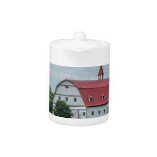 Traditional White and Red Barn