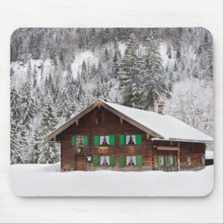 Traditional wooden house in Bavaria mousepad