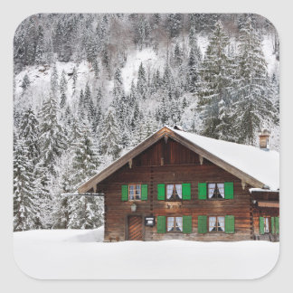 Traditional wooden house in Bavaria sticker