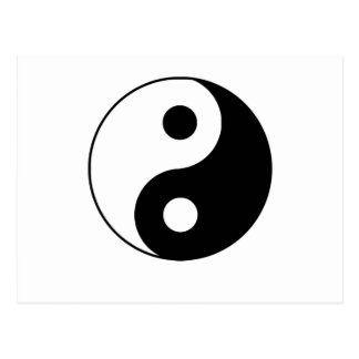 Traditional Yin Yang Postcard