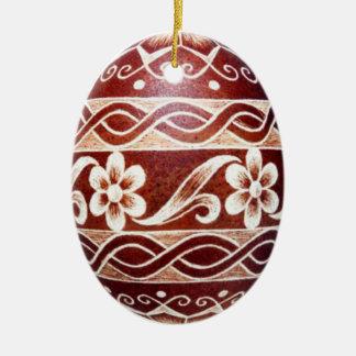 Traditonal easter egg ceramic oval ornament