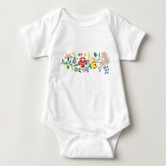 Traditonal Hungarian Embroidery Body suit Baby Bodysuit