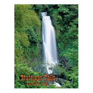 Trafalgar falls Dominica Postcard