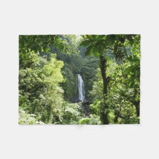 Trafalgar Falls Tropical Rainforest Photography Fleece Blanket
