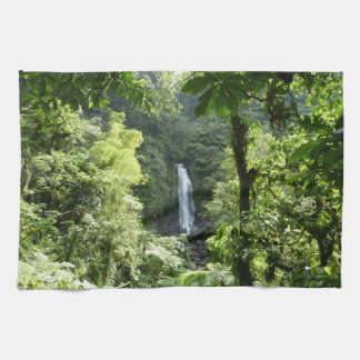 Trafalgar Falls Tropical Rainforest Photography Kitchen Towel