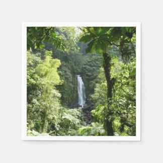 Trafalgar Falls Tropical Rainforest Photography Paper Napkin