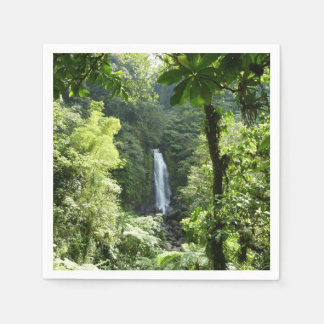 Trafalgar Falls Tropical Rainforest Photography Paper Napkins