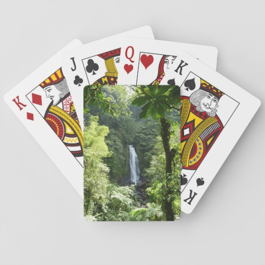 Trafalgar Falls Tropical Rainforest Photography Playing Cards