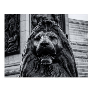 Trafalgar Square Bronze Lion postcard