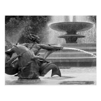 Trafalgar Square Fountains, London Postcard