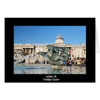 Trafalgar Square in London, UK Card
