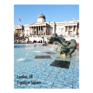 Trafalgar Square in London, UK Letterhead