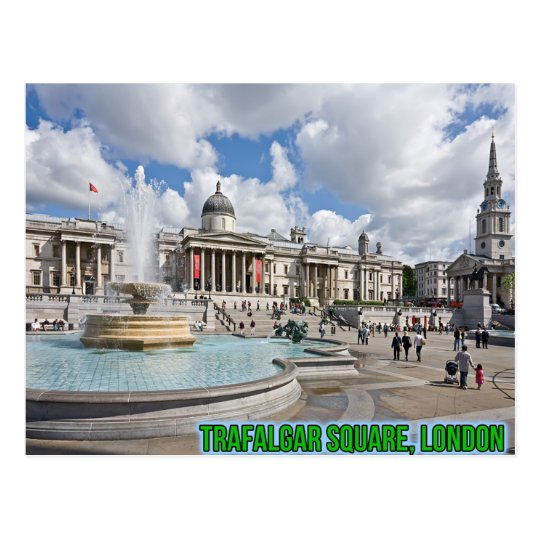 Trafalgar Square London Postcard