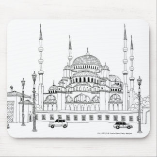 Traffic by mosque mouse pad