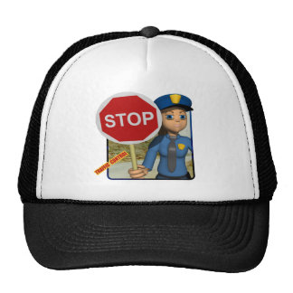 Traffic Control Officer Trucker Hat