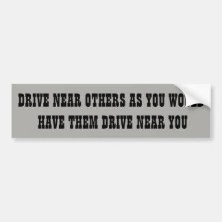 Traffic Golden Rule Bumper Sticker