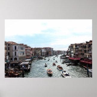 Traffic in Venice Poster