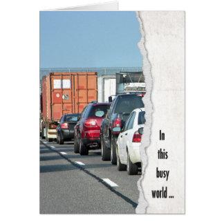Traffic Jam birthday Card