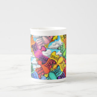Traffic Jam Bone China Mug