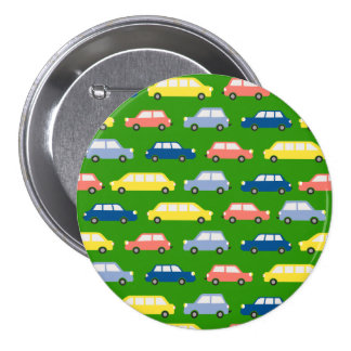 Traffic Jam Bright Colors Large Round Badge 3 Inch Round Button
