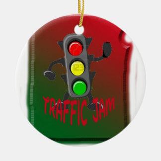 Traffic jam ceramic ornament