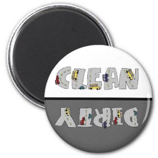 Traffic Jam Clean Dirty Dishwasher Magnet
