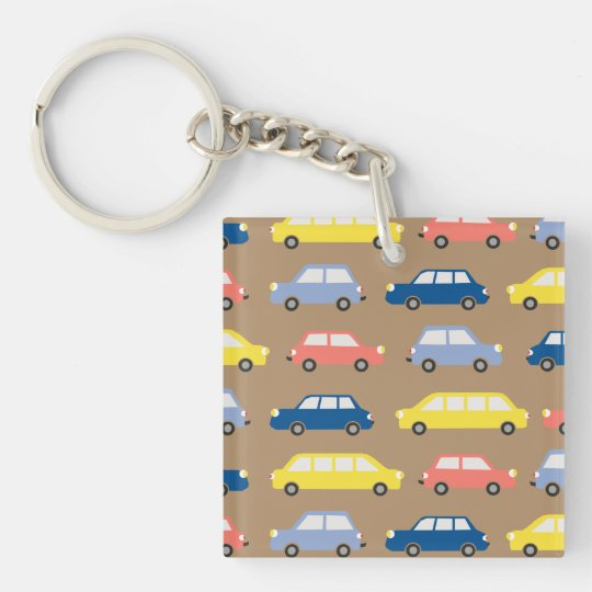 Traffic Jam Square (double-sided) Keychain