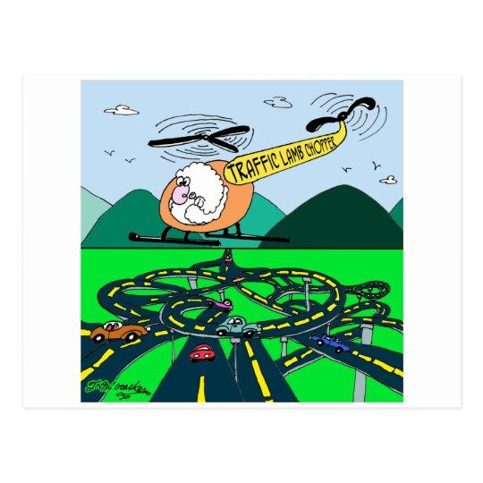 Traffic Lamb-Chopper. Postcard
