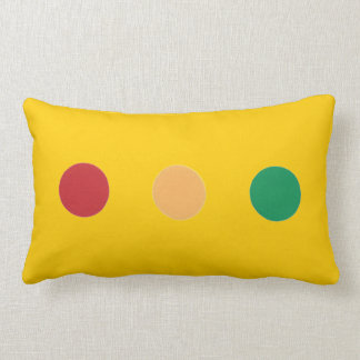 Traffic light colors circles Rectangle Pillows