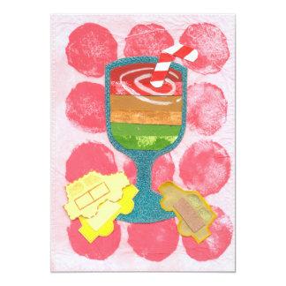 Traffic Light Milkshake Invitations 13 Cm X 18 Cm Invitation Card