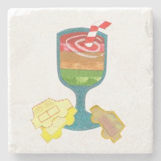 Traffic Light Milkshake Marble Coaster Stone Coaster