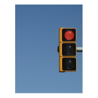 Traffic light postcard