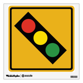 Traffic Light Sign Wall Graphic