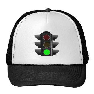 Traffic light traffic light green green trucker hats