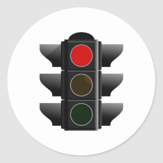 Traffic light traffic light red talk classic round sticker