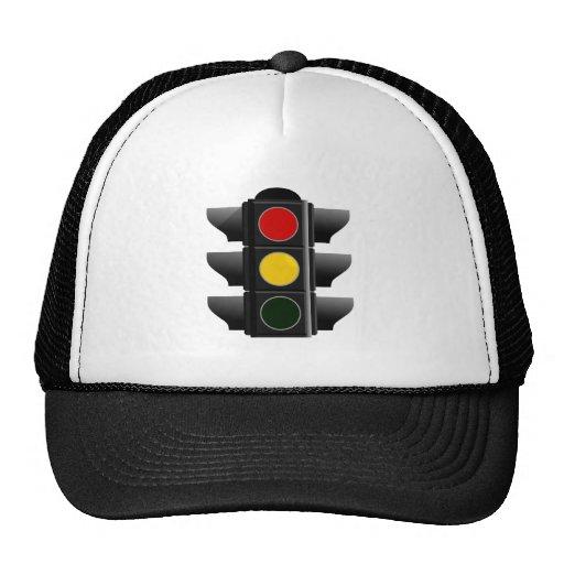 Traffic light traffic light red yellow talk yellow trucker hat